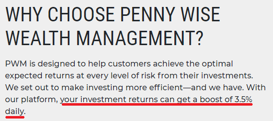 pennywise wealth management scam loss