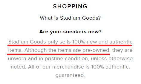 stadium goods sneaker pre owned