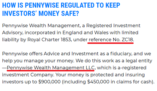 pennywise wealth management scam company name