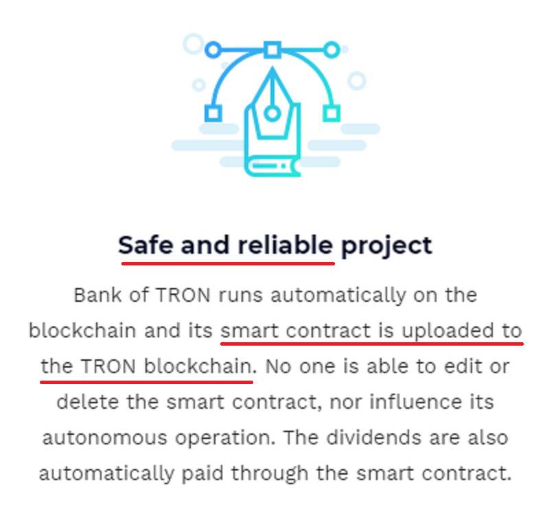 bank of tron smart contract