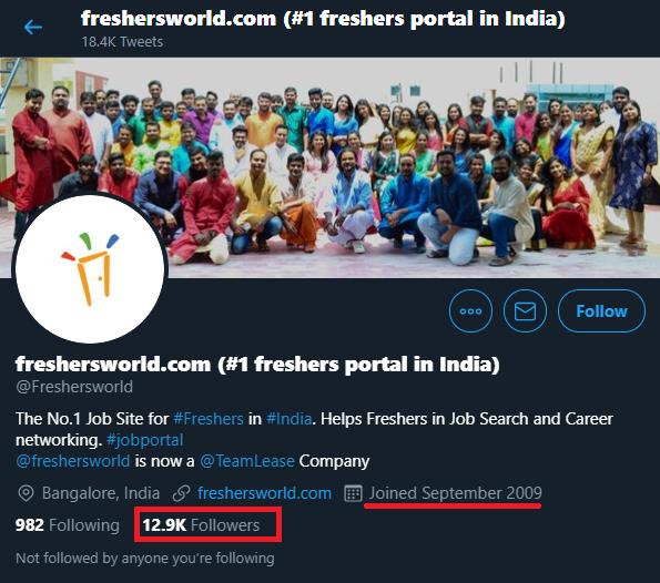freshersworld twitter