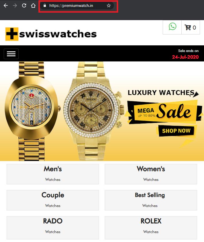 premiumwatch.in luxury watch scam
