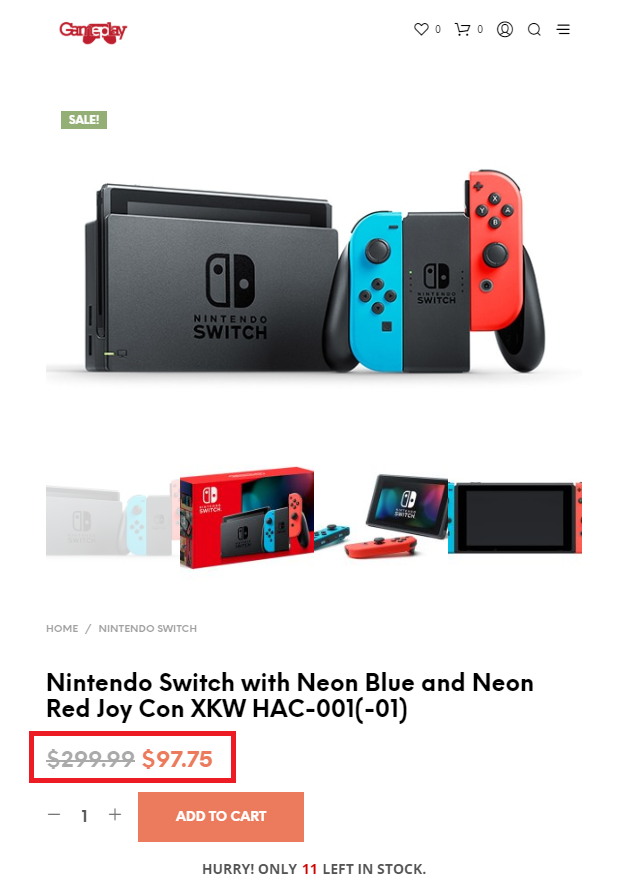 xiaoshop space scam nintendo switch fake price