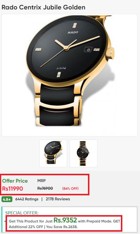 timestudio luxury watch scam rado fake price
