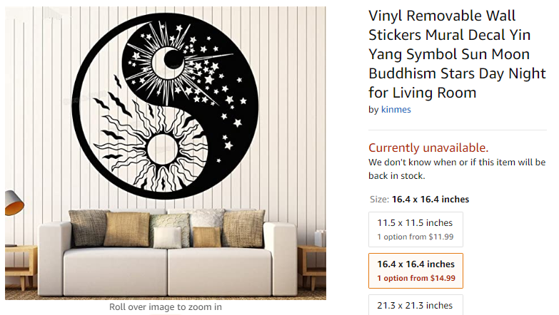 solstice collection flower yin yang amazon