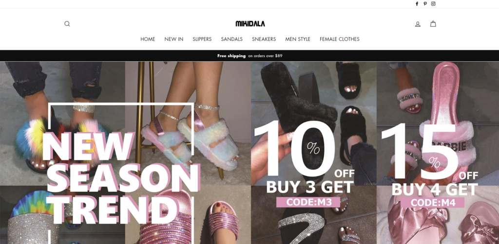 mikidala  scam home page