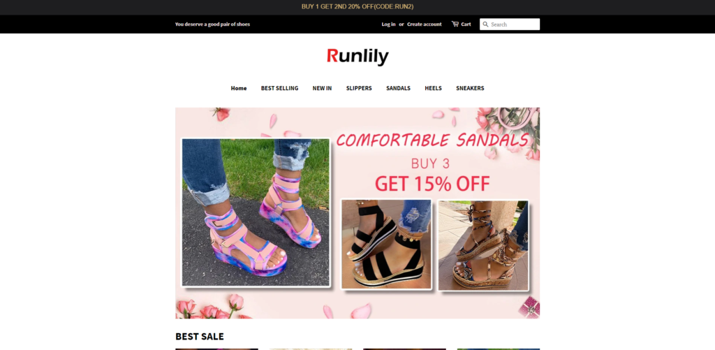 runlily scam home page
