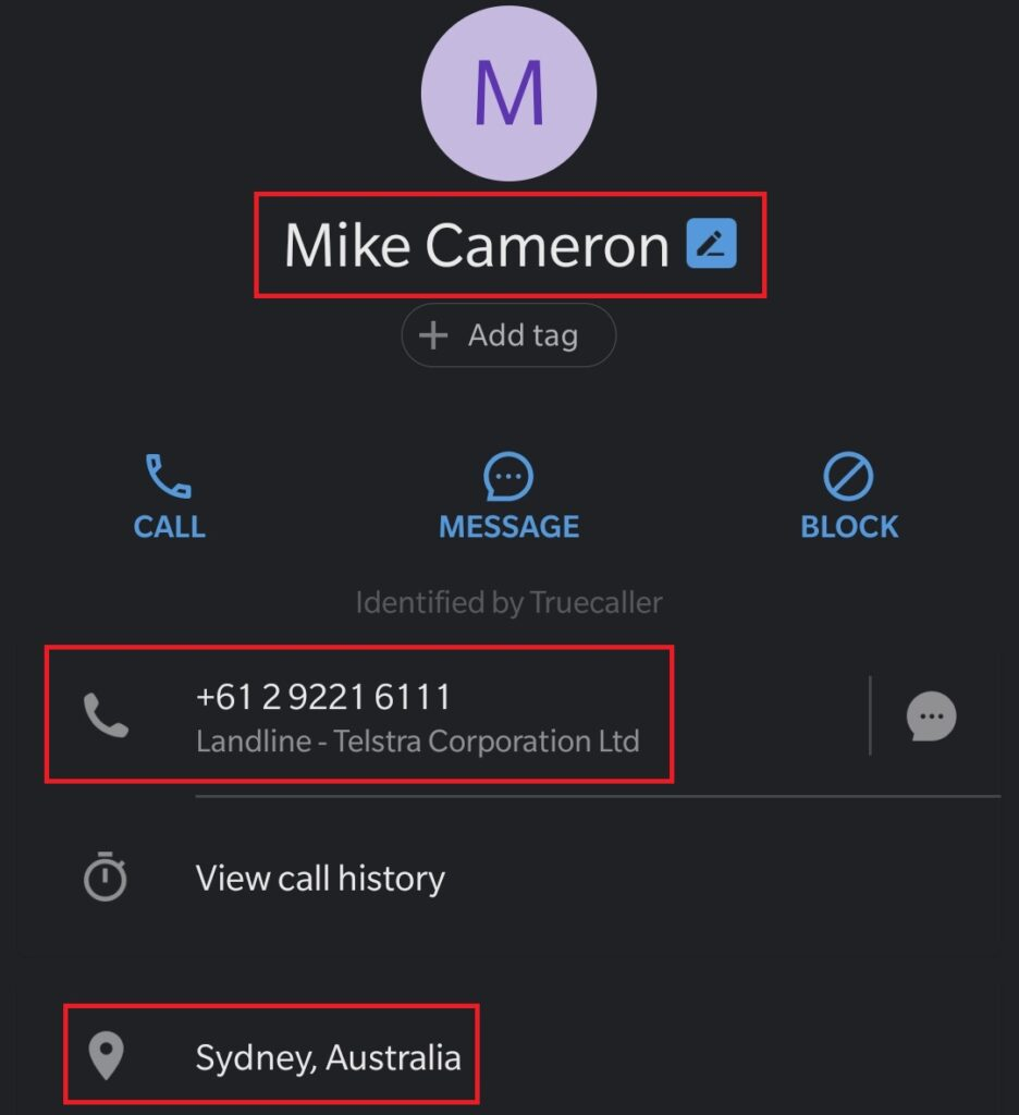 miningcompany scam fake phone number