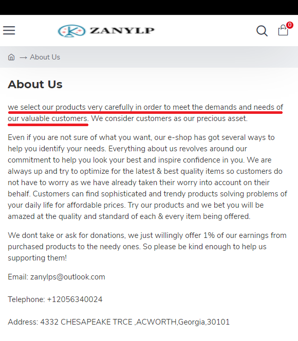 zanylp scam about us
