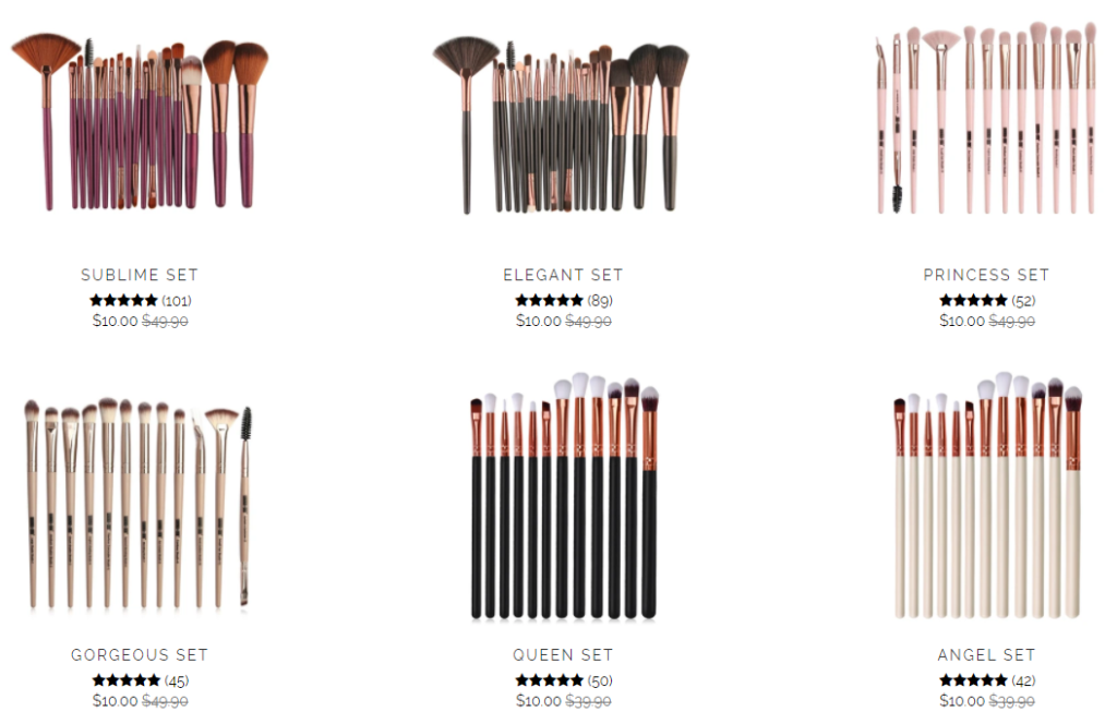 kayceebeauty scam make up brushes