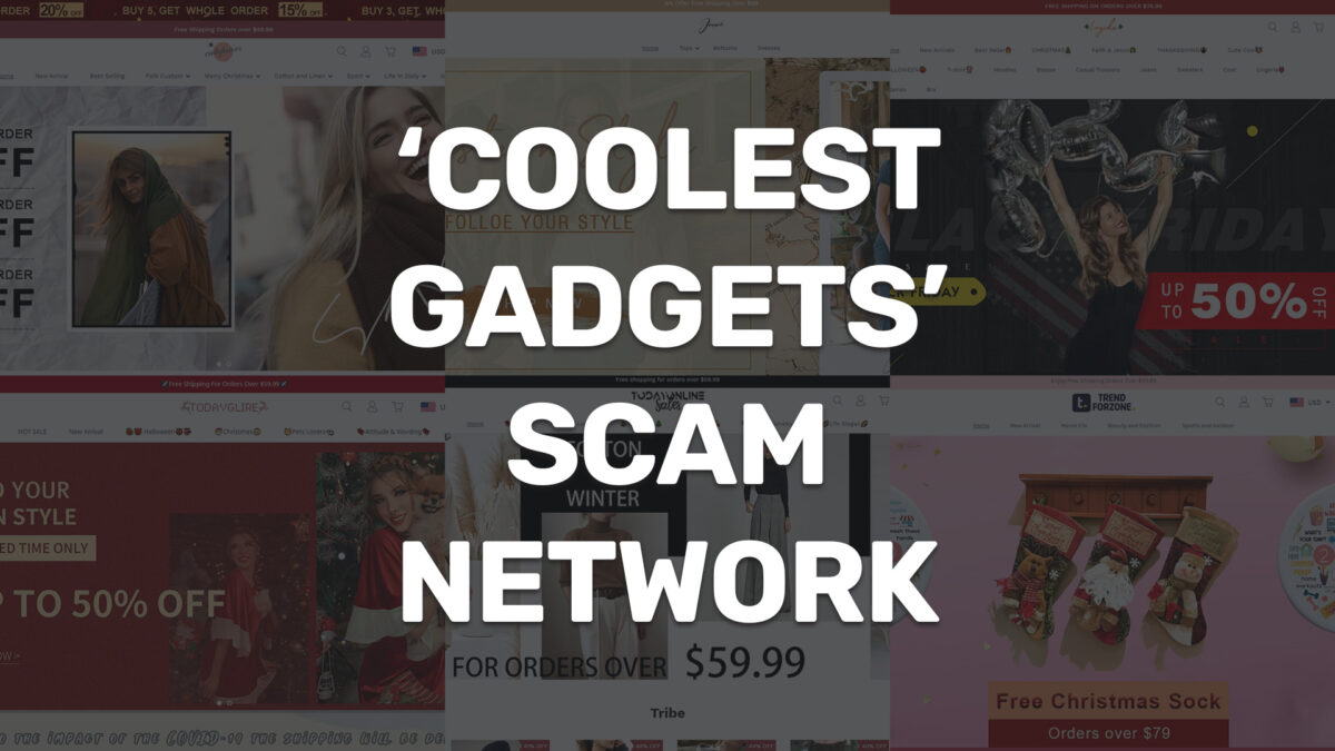 coolest gadgets scam network cover image