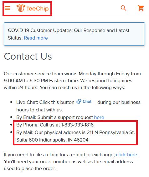 teechip contact details