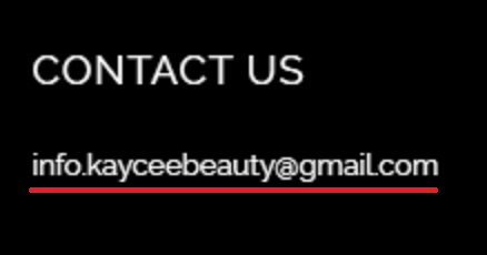 kaycee-beauty email