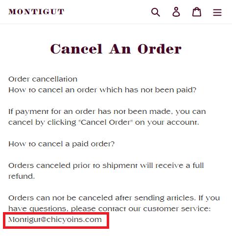 montigut fake email address