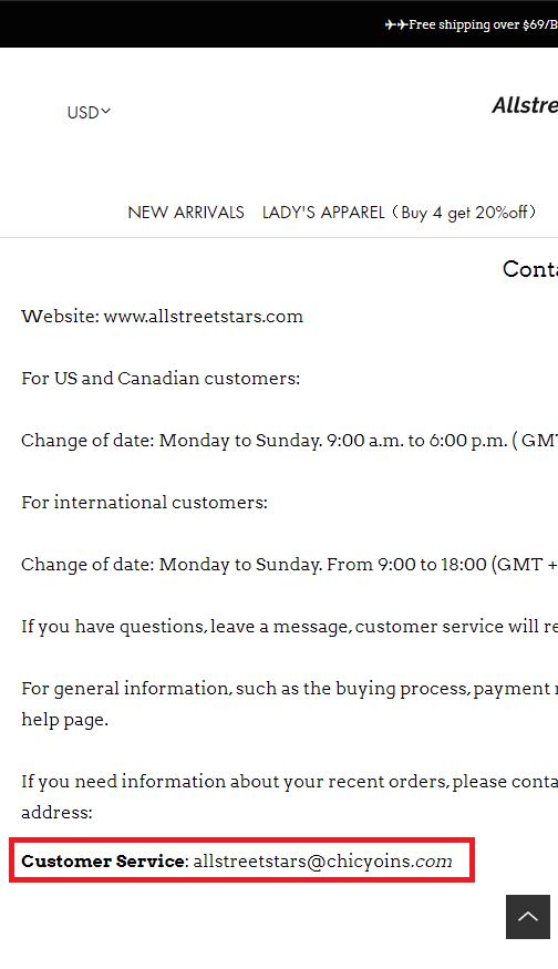 allstreetstars fake email address