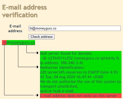 moneyguru fake email id