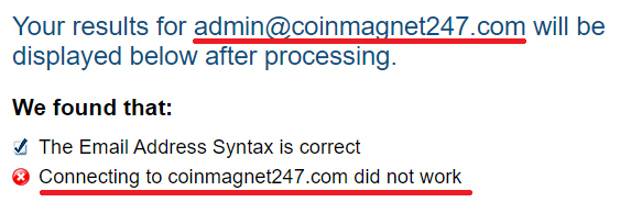 CoinMagnet247 scam fake email id