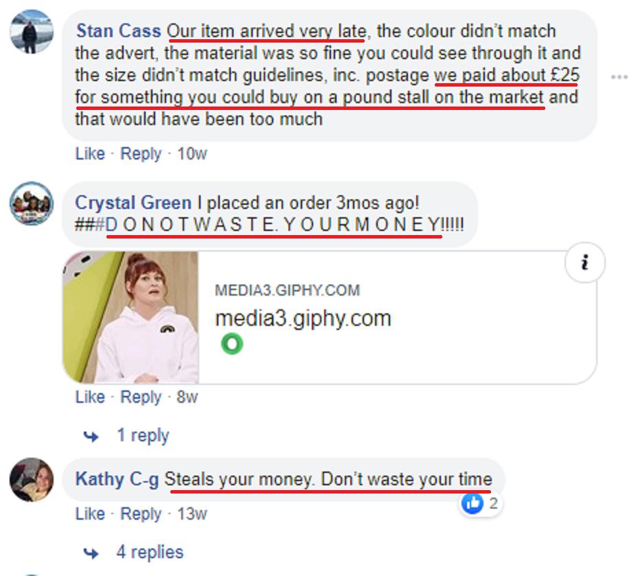 chicyoins scam facebook comments