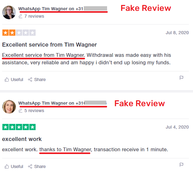 CoinMagnet247 scam fake trustpilot review 1