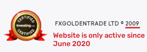 fxgoldentrade fake age
