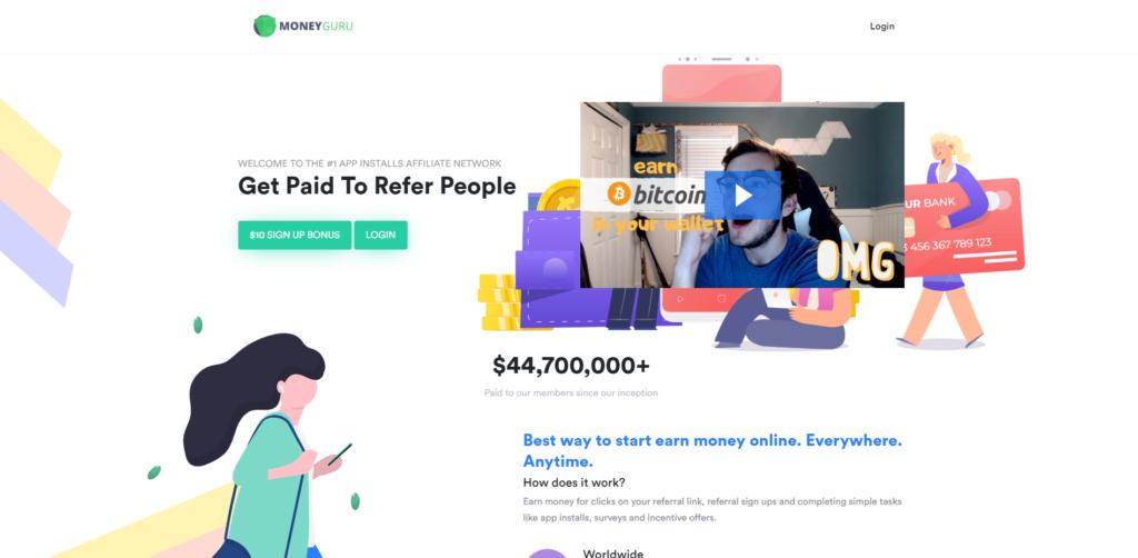moneyguru scam home page