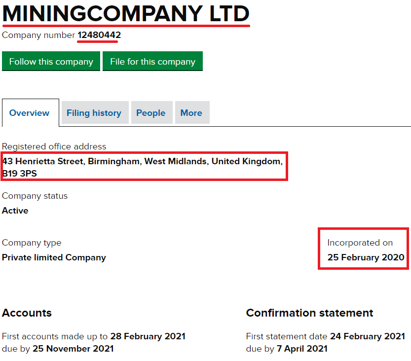 miningcompany ltd uk registration 1