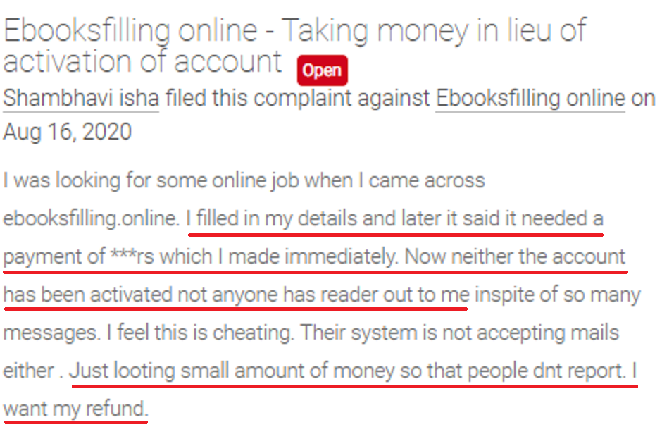 ebooksfilling job scam review voxya