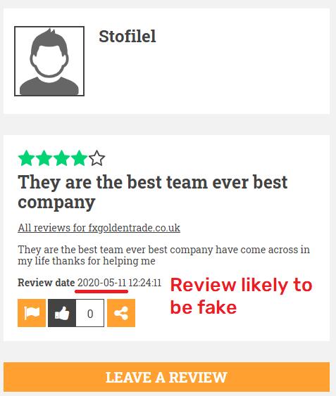 fxgoldentrade fake review