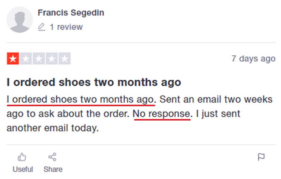 hero-shoes scam review trustpilot 3