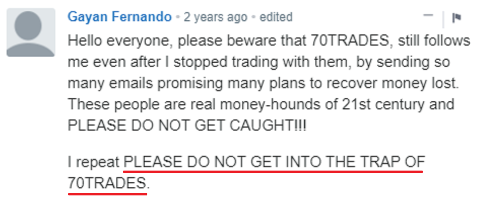 70trades scam review 5