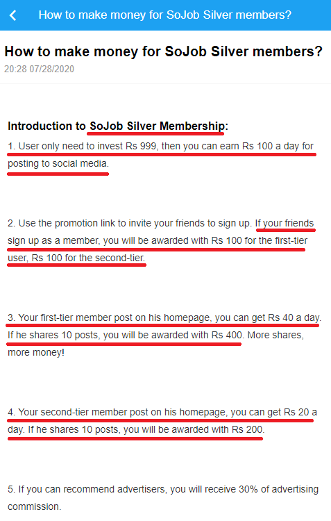 sojob scam silver plan 1