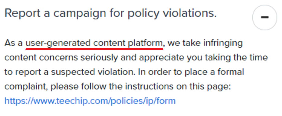 teechip user generated content platform 2