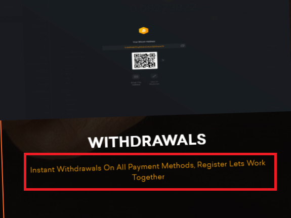 instant withdrawal claim