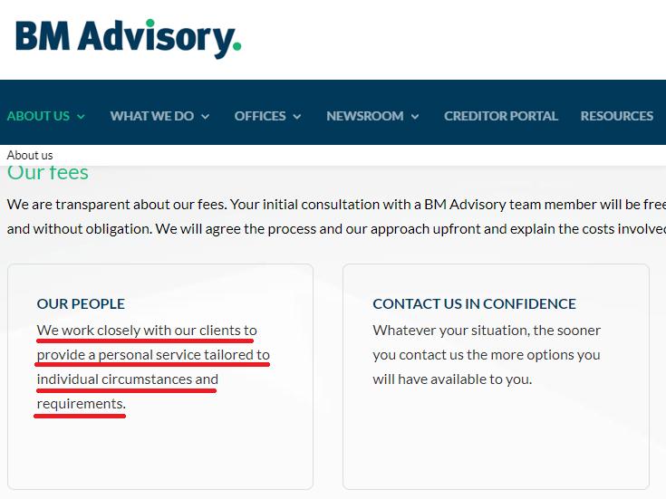 bm advisory scam aboutus