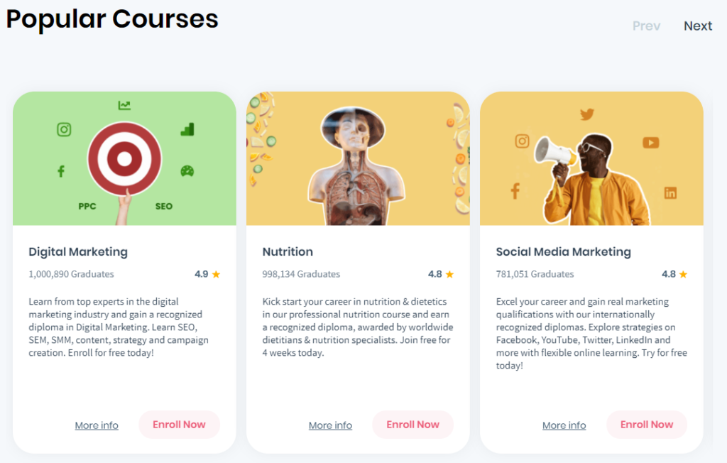 shaw academy courses