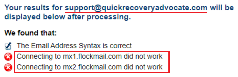 QuickRecoveryAdvocate fake email