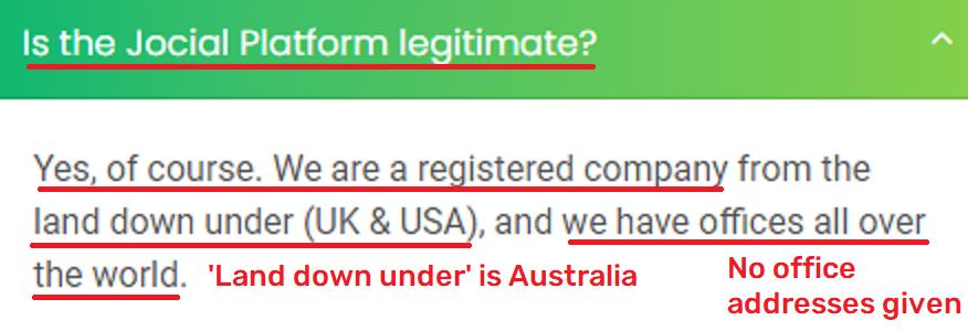 legitimate platform faq
