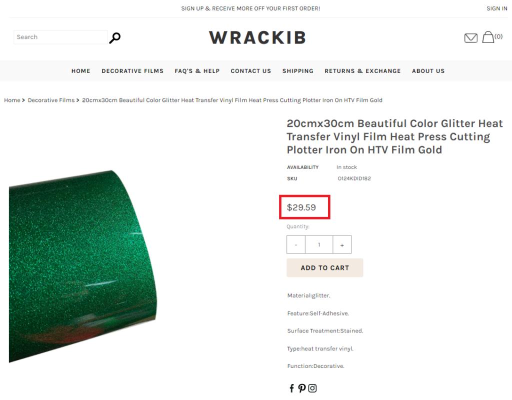 wrackib scam green glitter nail film