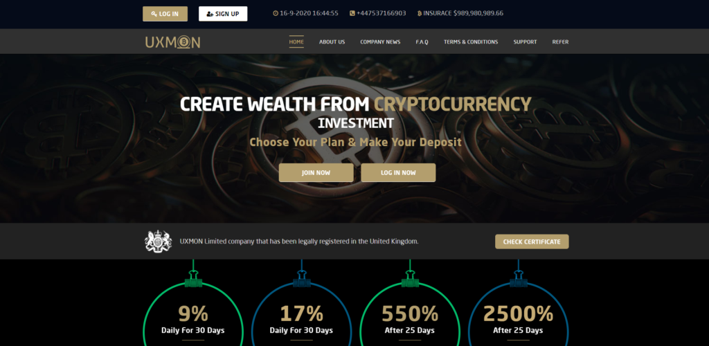 uxmon scam home page