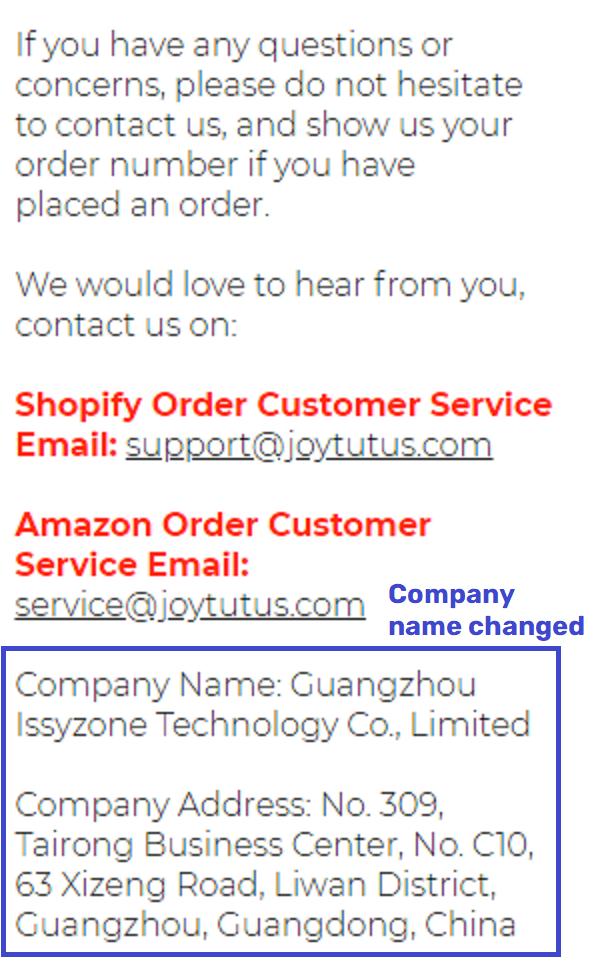 joytutus scam fake contact 2