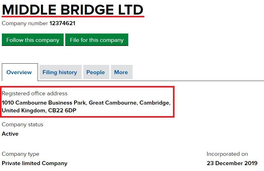 middle bridge ltd scam
