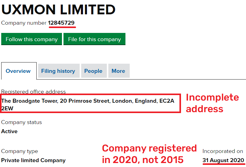 uxmon scam fake registration 2