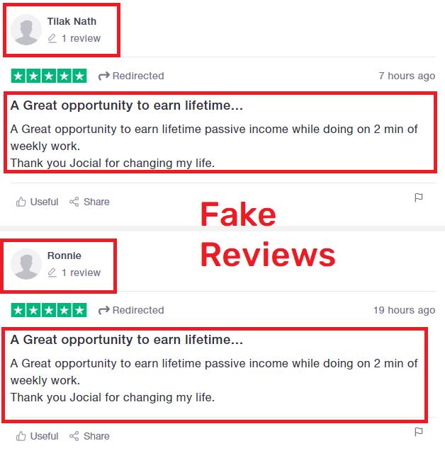 jocial scam fake review trustpilot