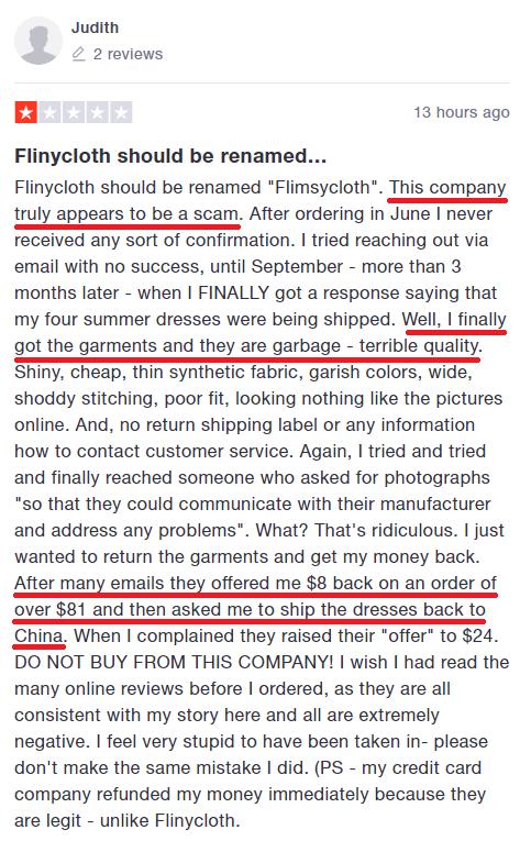 flinycloth scam review 1