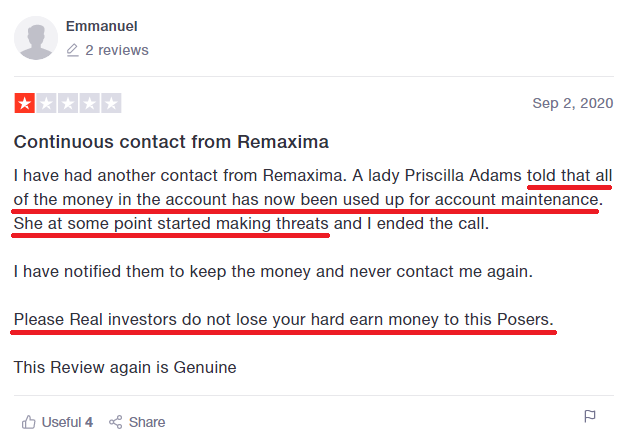 remaxima scam review 4