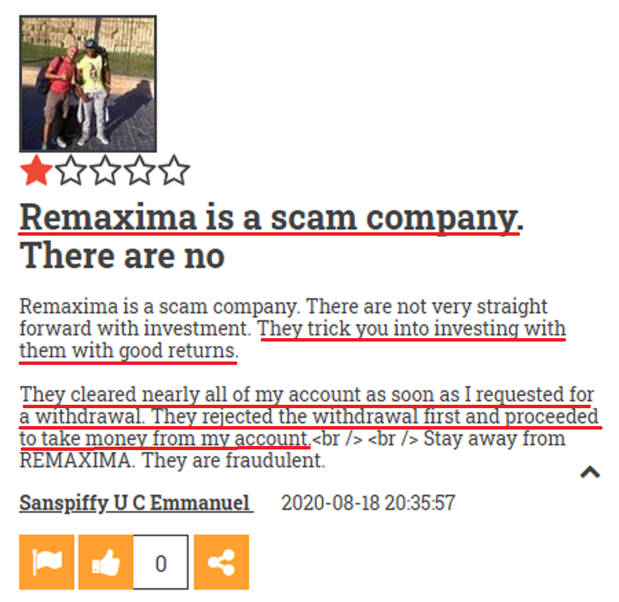 remaxima scam review 8