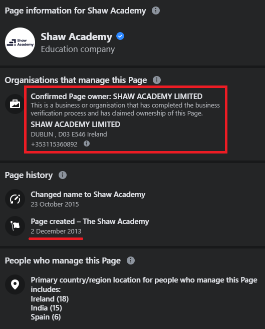 shaw academy facebook