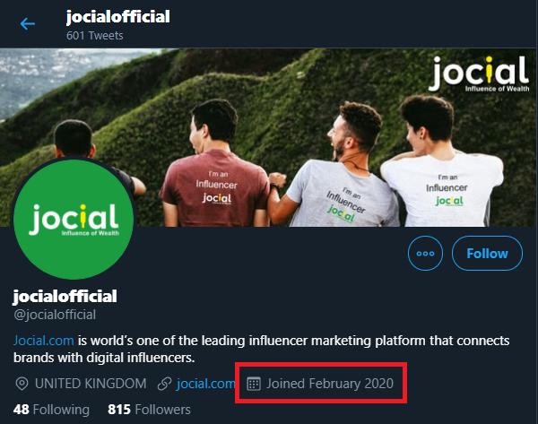 jocial scam twitter