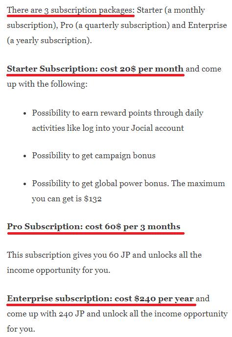 jocial scam subscription plans