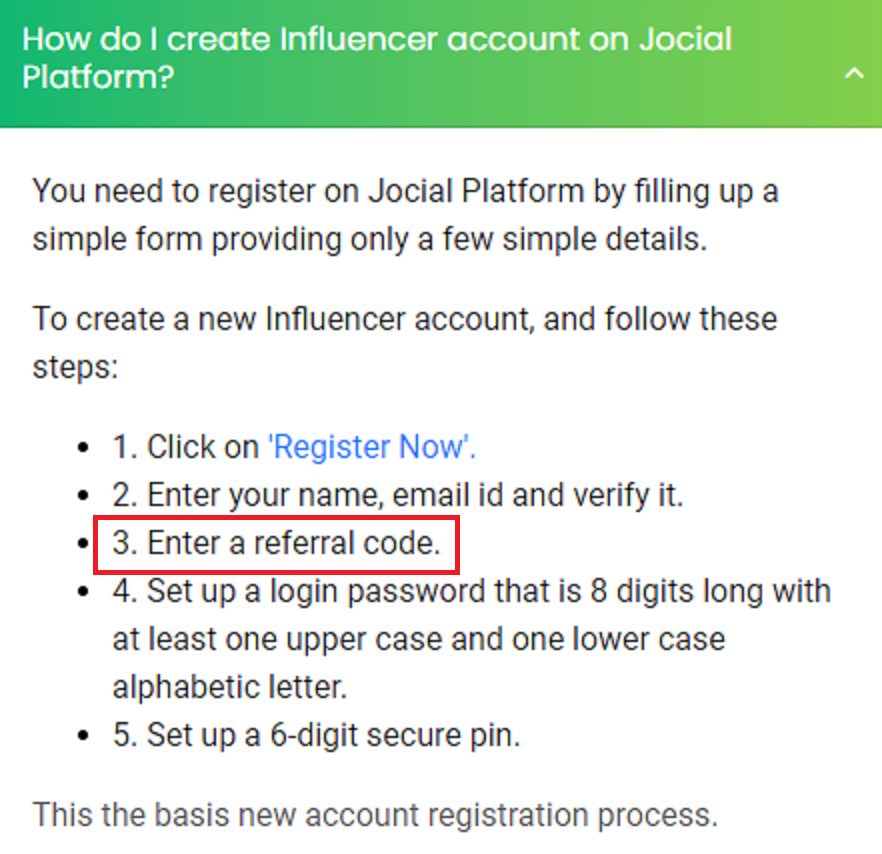 jocial referral code